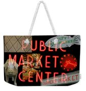 Market Collage Weekender Tote Bag