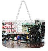 Market In Rain J005 Weekender Tote Bag