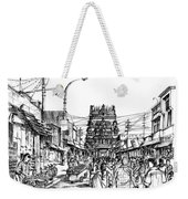 Market Place - Urban Life Outside Temple India Weekender Tote Bag