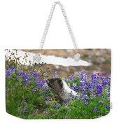Marmot In The Wildflowers Weekender Tote Bag