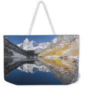 Maroon Bells Mirror Weekender Tote Bag by Jemmy Archer