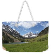 Maroon Bells Trail Panorama Weekender Tote Bag