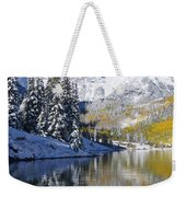 Maroon Lake And Bells 2 Weekender Tote Bag