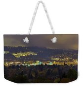 Marquam Hill And Portland Bridges At Night Weekender Tote Bag