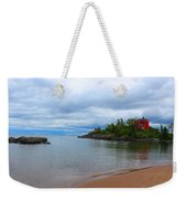 Marquette Harbor Lighthouse Weekender Tote Bag