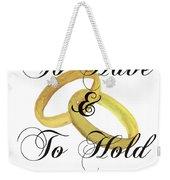 Marriage Vows Weekender Tote Bag