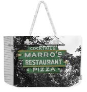 Marro's Restaurant Weekender Tote Bag
