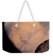 Mars And Phobos Weekender Tote Bag