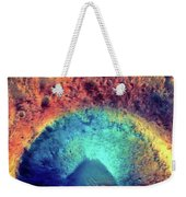 Mars Crater Surface Colorful Painting Weekender Tote Bag
