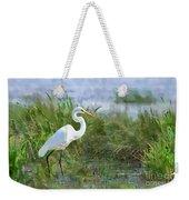 Marsh Egret Weekender Tote Bag