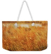 Marsh Grass And Snow Weekender Tote Bag