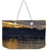 Marsh Ripple Pond Weekender Tote Bag