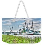 Marsh View Shrimp Boats Weekender Tote Bag