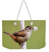 Marsh Wren Nest Building Weekender Tote Bag