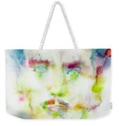 Marshall Mcluhan - Watercolor Portrait Weekender Tote Bag