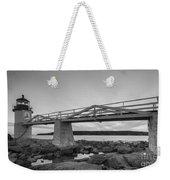 Marshall Point Light Sunset Bw Weekender Tote Bag