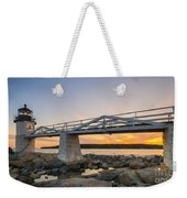 Marshall Point Light Sunset Weekender Tote Bag