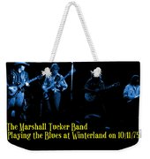 Marshall Tucker Winterland 1975 #18 Enhanced In Blue With Text Weekender Tote Bag