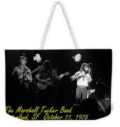 Marshall Tucker Winterland 1975 #37 Crop 2 With Text Weekender Tote Bag