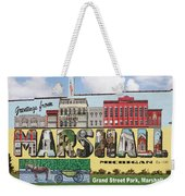 Marshall Vintage Postcard Weekender Tote Bag