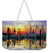 Marshallberg Harbor Sunset Weekender Tote Bag