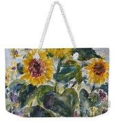 Martha's Sunflowers Weekender Tote Bag