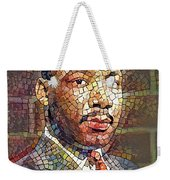 Martin Luther King Portrait Mosaic 2 Weekender Tote Bag