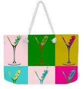 Martini Pop Art Panels Weekender Tote Bag