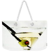 Martini With Green Olive Weekender Tote Bag