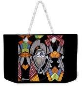 Maruvian Silver Mask Weekender Tote Bag