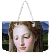 Mary Weekender Tote Bag by Agnolo Bronzino