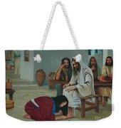 Mary Anoints The Feet Of Jesus Weekender Tote Bag