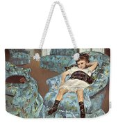 Mary Cassatt-little Girl In A Blue Armchair1878 Po Amp 059 Mary Cassatt Weekender Tote Bag