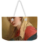 Mary Magdalene In Three-quarter View Veiled In A White Cloth Weekender Tote Bag