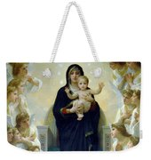 Mary With Angels Weekender Tote Bag