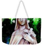 Mary With Cross Weekender Tote Bag
