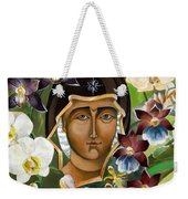Mary With Orchids Weekender Tote Bag