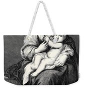 Mary With The Child Jesus Weekender Tote Bag