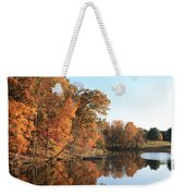 Maryland Autumns - Clopper Lake - Kingfisher Overlook Weekender Tote Bag
