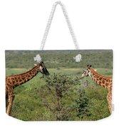 Masai Mara Giraffe Weekender Tote Bag