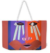 Mask With Streaming Eyes Weekender Tote Bag