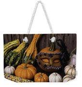 Masked Pumpkin Weekender Tote Bag