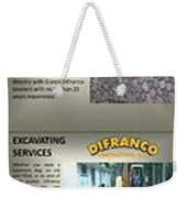 Masonry Contractor Services Weekender Tote Bag