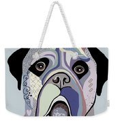 Mastiff In Denim Colors Weekender Tote Bag