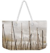 Masts In Sepia Weekender Tote Bag