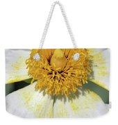 Matilija Poppy 2- Macro Weekender Tote Bag