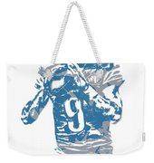 Matthew Stafford Detroit Lions Pixel Art 5 Weekender Tote Bag