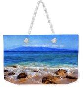 Maui Beach And View Of Lanai Weekender Tote Bag