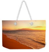 Maui, Hazy Orange Sunset Weekender Tote Bag