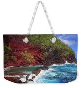 Maui Red Sand Beach Weekender Tote Bag by Inge Johnsson